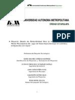 Proyecto Pre-factibilidad Planta Procesamiento de Jugos