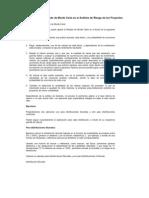 Aplicación del Método de Monte Carlo en el Análisis de Riesgo de los Proyectos