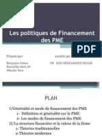 Les Politiques de Fin an Cement Des PME M.S