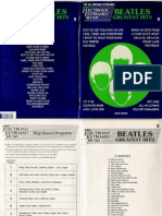 BEATLES GREATEST HITS 8 - Partituras Simplificadas