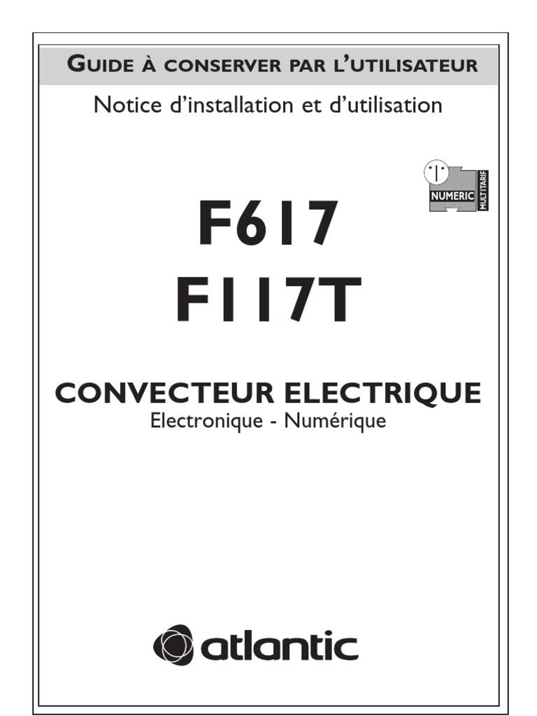 Notice Radiateur Atlantic Chauffage Electrique Electricite