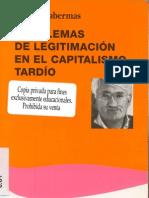 Jurgen Habermas - Problemas de legitimacion en El Capitalismo Tardio
