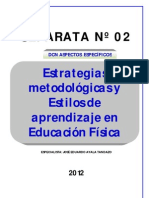 Separata 02 Estilos de Aprendizaje 2012- EDUARDO AYALA TANDAZO