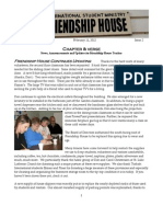 "Friendship House MSU ""Chapter and Verse Newsletter"" #2"
