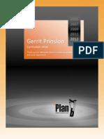 Gerrit Prinsloo CV 2005-2012