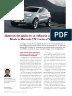 Sistema de Audio en La Industria Del Automovil
