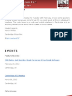 Cambridge Silicon Fen Weekly Newsletter 10 February-2012