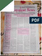 Employment News online e paper | Rojgar Samachar | रोजगार समाचार New Delhi 4 - 10 February 2012 Vol. XXXVI No. 45