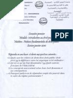 Examen Droit Français Semestre 1 - 2009-2010 -  mohamadia