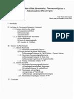 O Impacto das Ideias Humanistas, Fenomenologicas e Existenciais na Psicoterapia - José Paulo Giovanetti