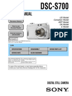 SONY DSC-S700 SERVICE MANUAL VER 1.3 2008.07 REV-3 (9-852-183-14)