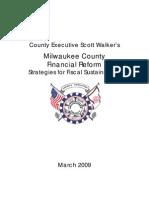 Scott Walker Finance Reform FINAL3.24.09 - Employee Pay and Benefits Reform