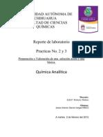 Practica 2 y 3 Preparacion y Valoracion de HCl y NaOH 0.1N