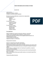Protocolo Para Pernos Prefabricados de Fibra de Vidrio
