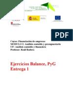 Ejercicios Balance, PyG Entrega 3