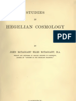 McTaggart John Ellis STUDIES in HEGELIAN COSMOLOGY Cambridge University Press 1901