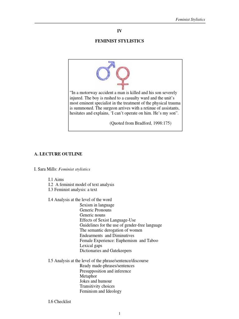 4 handout feminist stylistics 1 ethnicity race gender feminism