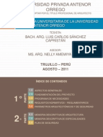 """FAUA UPAO - Expo Tesis """"Biblioteca Universitaria de la UPAO"""" Bach.Arq. Luis Carlos Sanchez Capristán"""