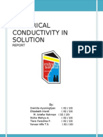 Electrical Conductivity in Solution