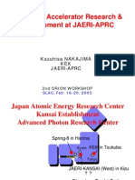 Kazuhisa Nakajima- Advanced Accelerator Research & Development at JAERI-APRC