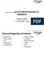 Stephen Milton- Accelerators for Novel Sources of Radiation