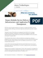 ensurereliableservicedeliverybylinkinginfrastructureandapplicationperformancemanagement