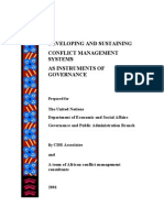 UN-Conflict Manag Systems