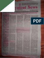 Employment News online e paper |  Rojgar Samachar | रोजगार समाचार New Delhi 11-17 February 2012 Vol. XXXVI No. 46