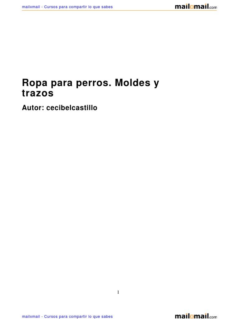Ropa Perros Moldes Trazos 38446 Completo
