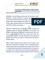 Fundamental Principles I (Philosophy of Education) - Edgar Nelton Gaspar