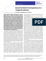 X.Wang et al- Interference-induced terahertz transparency in a semiconductor magneto-plasma