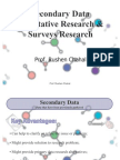 Marketing Research - Secondary Data, Qualitative Research & Surveys