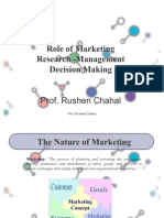 Role of Marketing Research -Management Decision Making