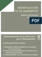MANIPULACIÓN  HIGIENICA DE ALIMENTOS