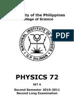 Physics 72 2nd LE 2nd Sem 10-11 Set a (1)