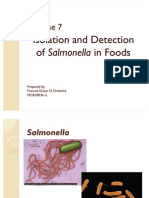 Exer7 Isolation and Detection of Salmonella in Foods Postlab