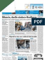 Il Mattino 12.02.2012 - Bilancio, duello sindaco-Realfonzo