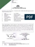 BUKTI LAPOR LP/299/VII/2011/JATIM/RES SMP (6 Juli 2011)