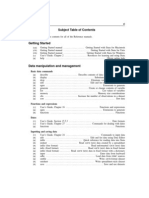 STATA_subject Table of Contents