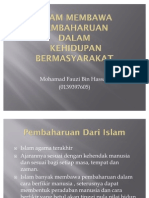 Islam Membawa Pembaharuan