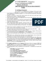 BBM-Project Guideline & Schd