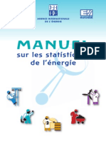 IEA Energie Statistics Manual French