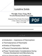 Crystalline Solids - Tong