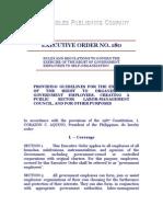 Executive Order No. 180
