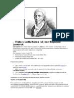 Viața și activitatea lui Lamarck(Biologie)