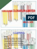Toxicologia Colorantilor Alimentari