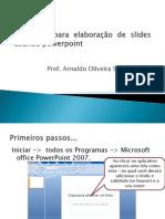 Diretrizes para elaboração de slides usando powerpoint