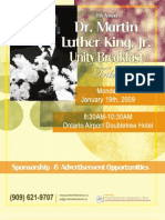 8th Annual Dr. Martin Luther King, Jr. Unity Breakfast Tribute