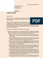 Surat Kpd KH BAHARUDDIN SH, Meminta Data Penggunaan Uang (29 Des 2010)