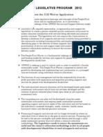 DDAWNY 2012 Legislative Program Fact Sheets